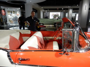 A great orange convertible