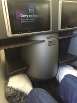 Lots of leg room and space - the only way to fly
