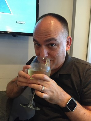 We had plenty of time in JFK until we didn't - this wine was a lot