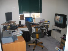 Overall view of desk area
