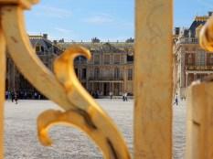 The main entrance into the original lodge facade of Versailles