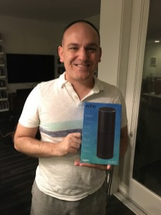Got a fun gift from Fran & Joel - the Amazon echo