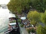 A restaurant along the Seine near the bridge we took to get back to the hotel
