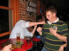 Kyle punching Tom