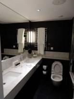 And a spacious bathroom too
