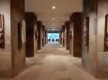 Looking down the Asian art hallway