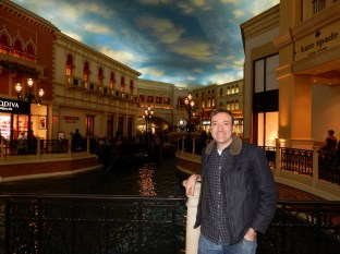 Larry at the Palazzo end of the Canals