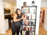 Rekha and her wonderful bookshelf and home