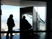 Up on the 69th floor - the Skyslide awaits