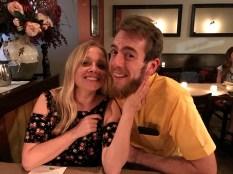Nicki & Austin at dinner