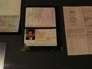 Pierce Brosnan's Bond passport