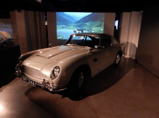 It's the same model of car that was also in Goldfinger, as you can see in the movie in the background