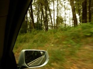 Driving over to Ronette's bridge