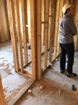 Larry is standing in what will eventually be our ground floor bathroom