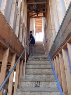 Here's our stunning staircase under construction