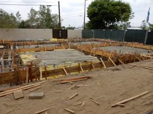 Prepping foundations for another phase near the model homes