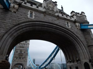We decided to walk across the Tower Bridge