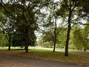 We then walked into Green Park