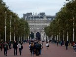 And then towards Admiralty Arch