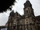 At the Zocalo of Mexico City, this is the Cathedral from the 1500s
