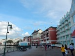 Walking the Disney Boardwalk on the way to EPCOT