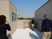 Up on our finished roof deck