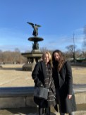 Nicki and Sveta at an empty Bethesda Fountain