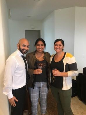George, Rekha, and Bethany