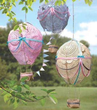 Bahçeniz Dantel Balonlarınızla Şenlensin,Tutkal-Dantel ve İpler