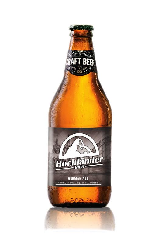 Botella Cerveza Hochländer German Ale
