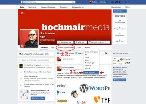 Anleitung zur Integration eines MailChimp Sign-up-Formulars in Facebook
