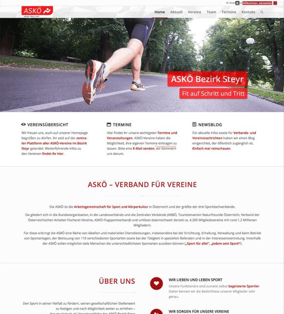 ASKÖ-Steyr Frontpage