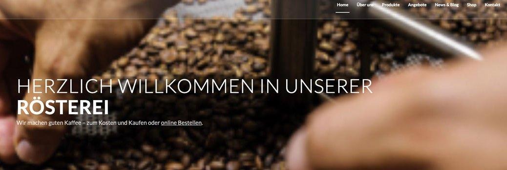 Kaffeerösterei dunkelhell Kaffeebohnen