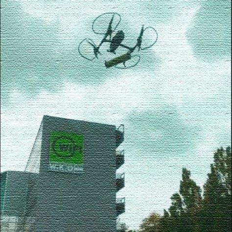 WIFI Kursbuch 2021 wird per Drohne eingeflogen.