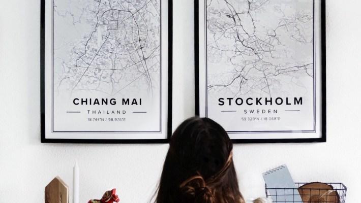 Wanddeko, Bilder, Poster, Wand, Reiseposter,