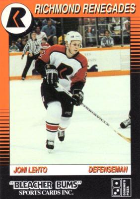 Richmond Renegades 1991-92 Bleacher Bums Hockey Card ...