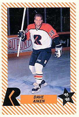 Richmond Renegades 1991-92 Richmond Comix & Cardz Hockey ...