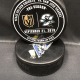 2019 San Jose Sharks vs Vegas Golden Knights Preseason Used Warm up puck. September 21 2019.