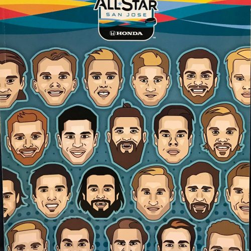 Official 2019 San Jose NHL AllStar Game Program.