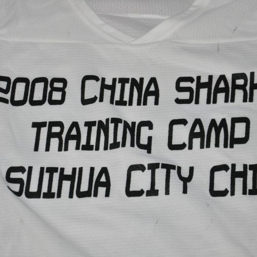 2008  China Sharks White Training camp jerseys. Light weight Material. Obtained from team.
