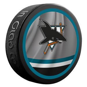 2020-2021 San Jose Sharks Retro Jersey Souvenir puck. Logo on both sides.