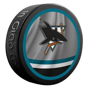 2020-2021 San Jose Sharks Retro Jersey Souvenir puck. Logo on both sides.