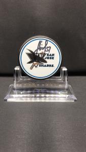 2019 San Jose Sharks Foundation Limited edition mystery puck. #51 Radio Simek.