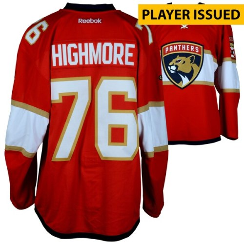 2016-17 Florida Panthers Matthew Highmore Team Issued jersey. Size 56