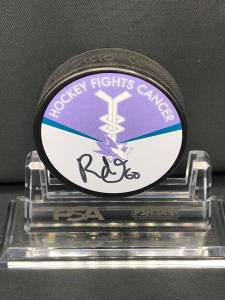 2018-19 San Jose Sharks Foundation Limited Edition  HFC Puck.  #60 Rourke Chartier