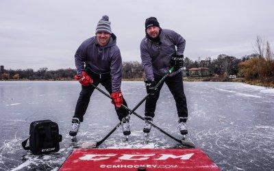 Minnesota Hockey Dads Break Guinness World Record For Longest Pass (Part 1)
