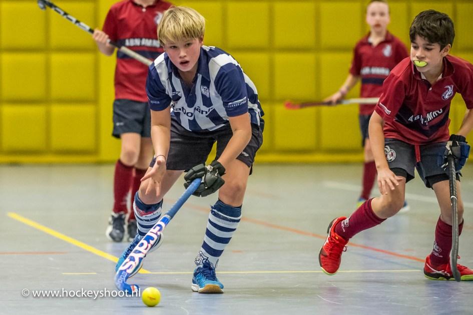 zaalhockey Play-offs in Topsportcentrum Rotterdam zaterdag 21 januari 2017
