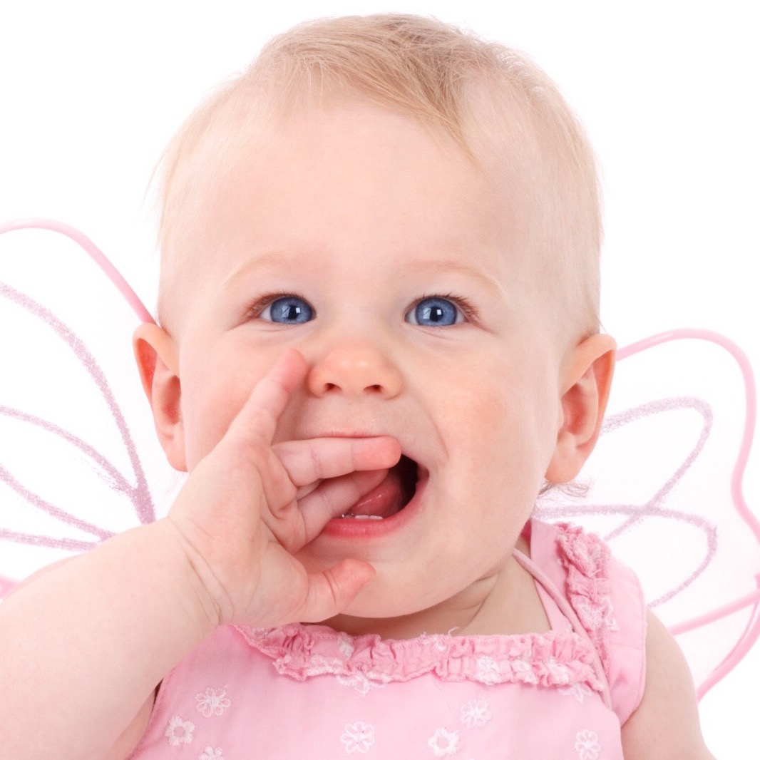 Baby with fairy wings