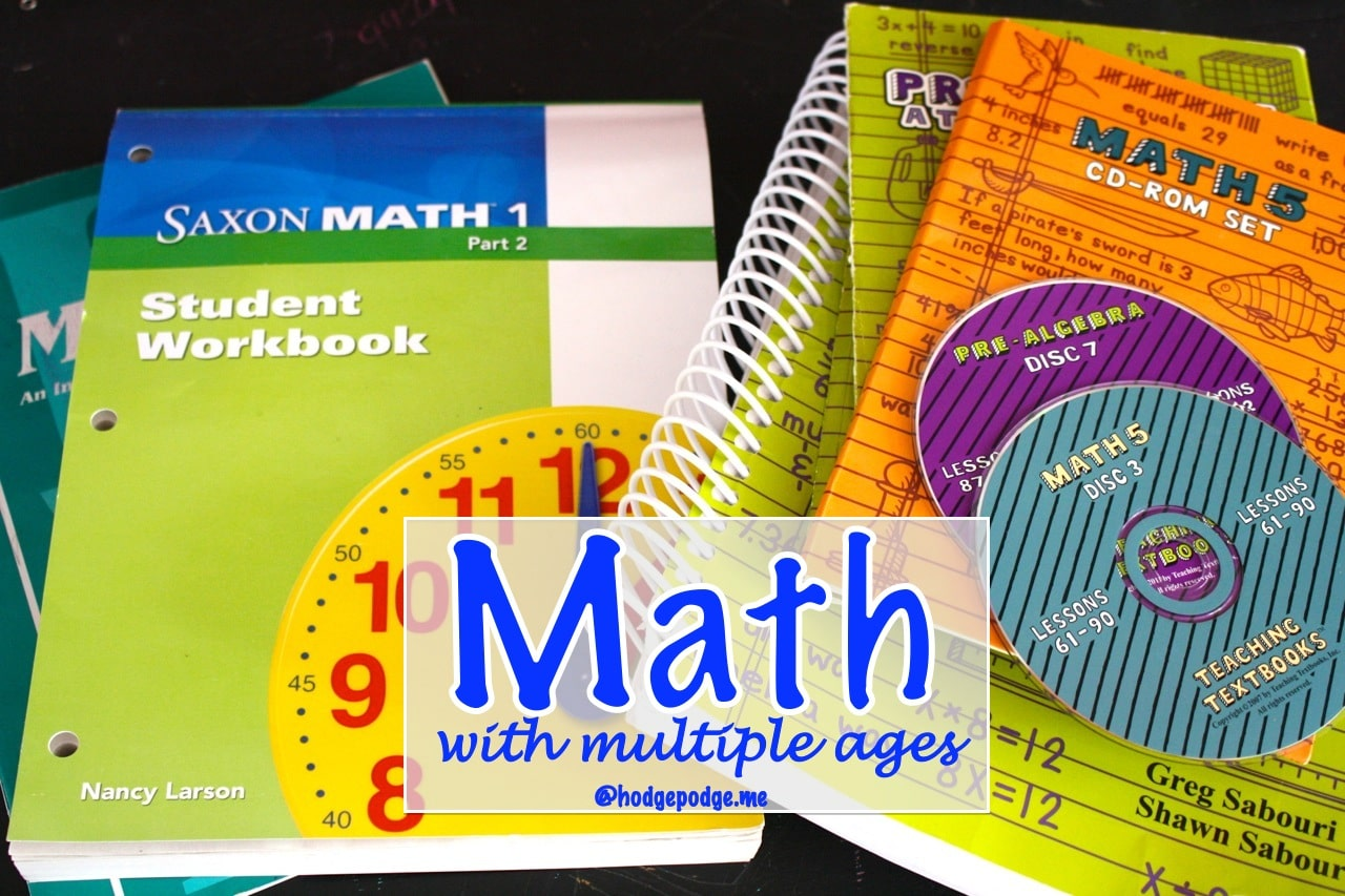 Homeschool Math With Multiple Ages