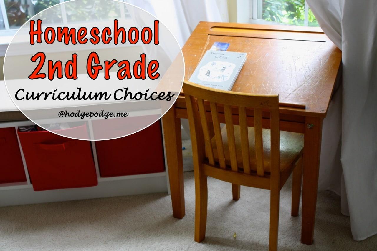Homeschool Second Grade Curriculum Choices